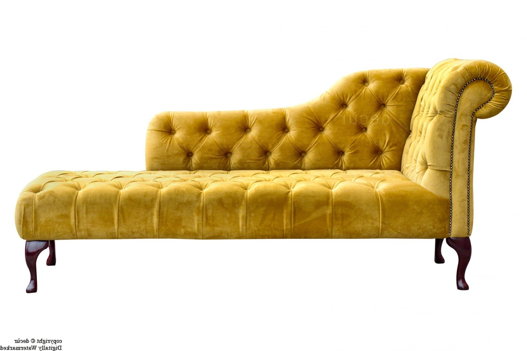 Current Yellow Chaise Lounges In Velvet Chaise Lounge Sofa (View 2 of 15)