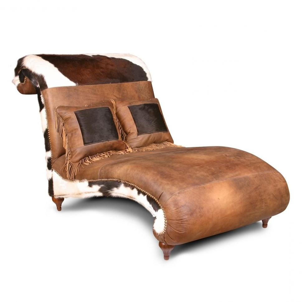 Curved Chaise Lounges Throughout Fashionable Convertible Chair : Brown Leather Chaise Lounge Chair Vintage (View 6 of 15)