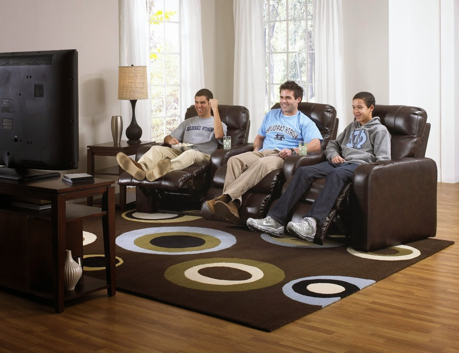 Curved Recliner Sofas For Preferred Leather Sofa Set With Recliner Reclining Sofa Sets Sale Curved (View 2 of 15)
