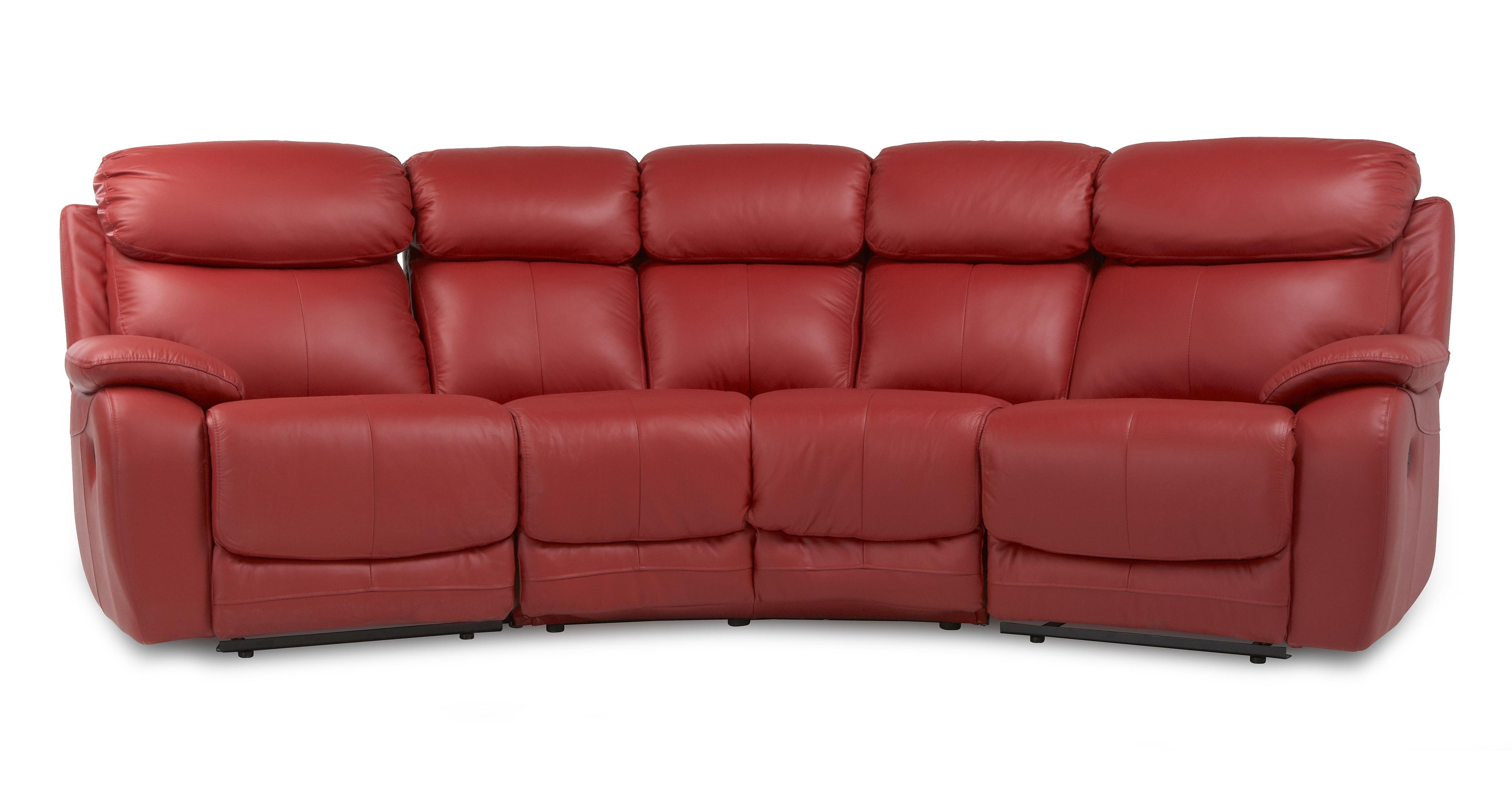 Curved Recliner Sofas In Popular Recliners Chairs & Sofa : 61 Most Astonishing Curved Recliner Sofa (View 3 of 15)
