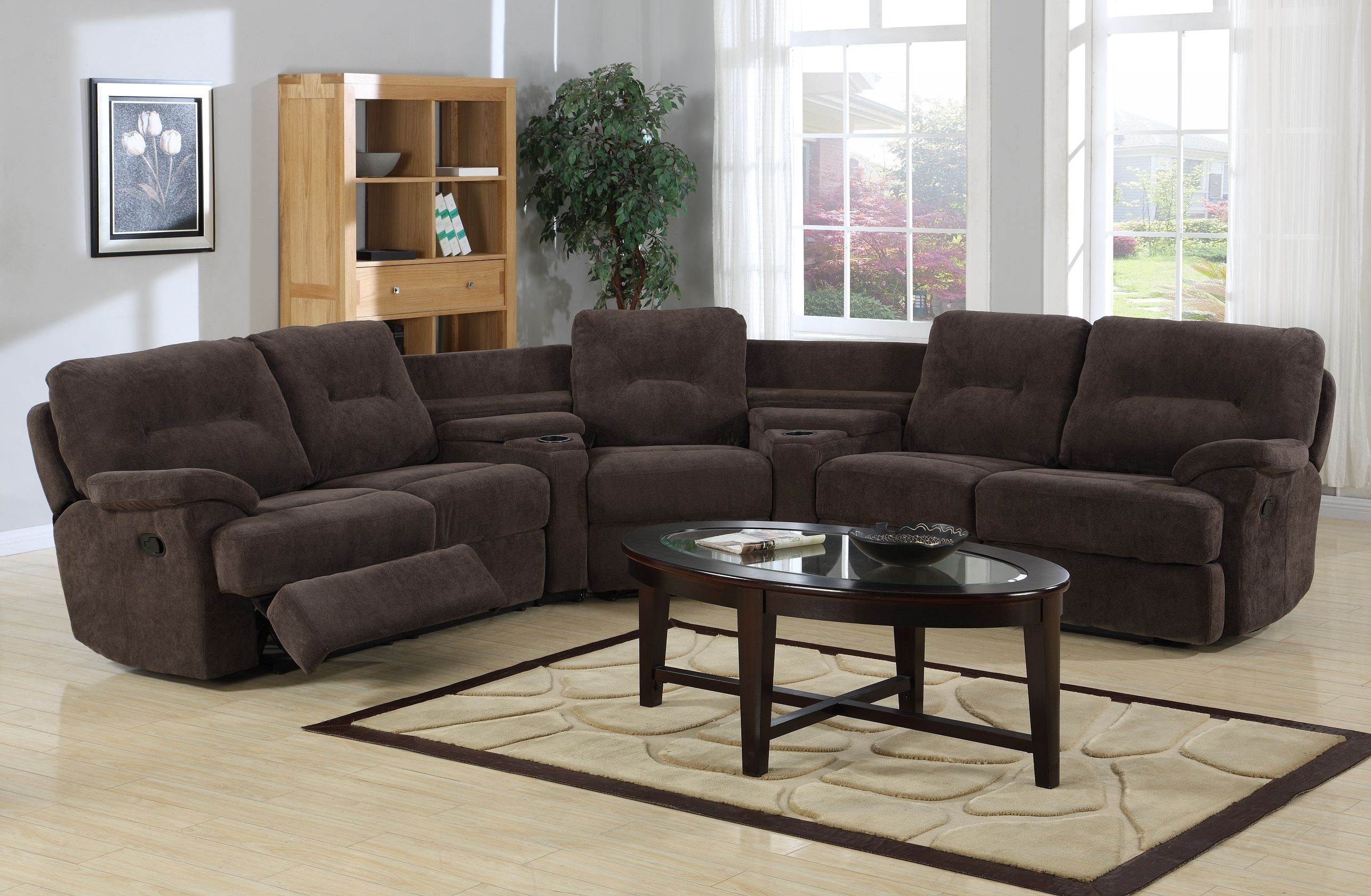 Curved Recliner Sofas Within Popular Sectional Sofa With Chaise Tags : Leather Sectional Sofa With (View 6 of 15)