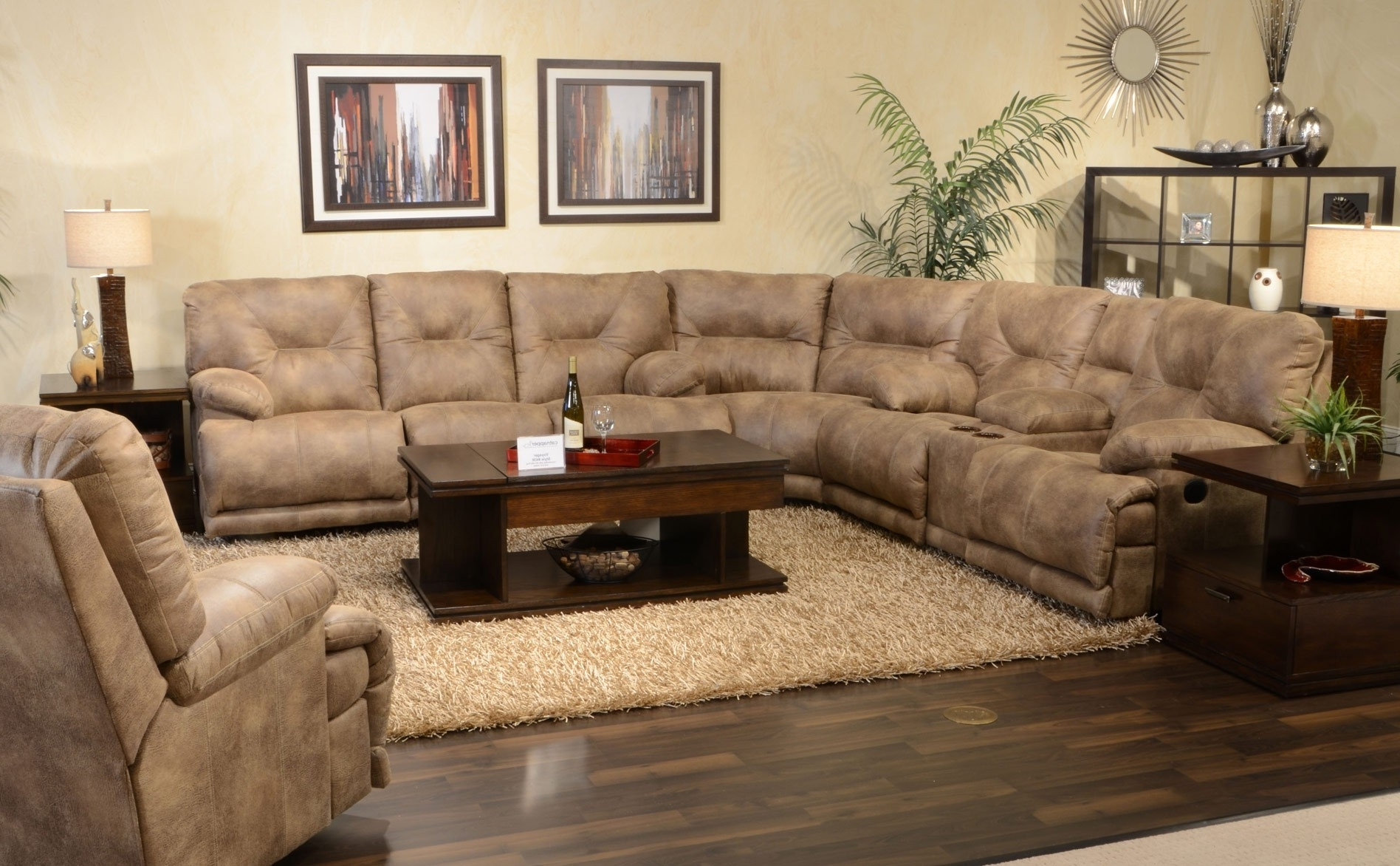 Curved Sectional Sofas With Recliner Within Trendy Living Room : Living Room Furniture Sectional Modern Sofa (View 4 of 15)