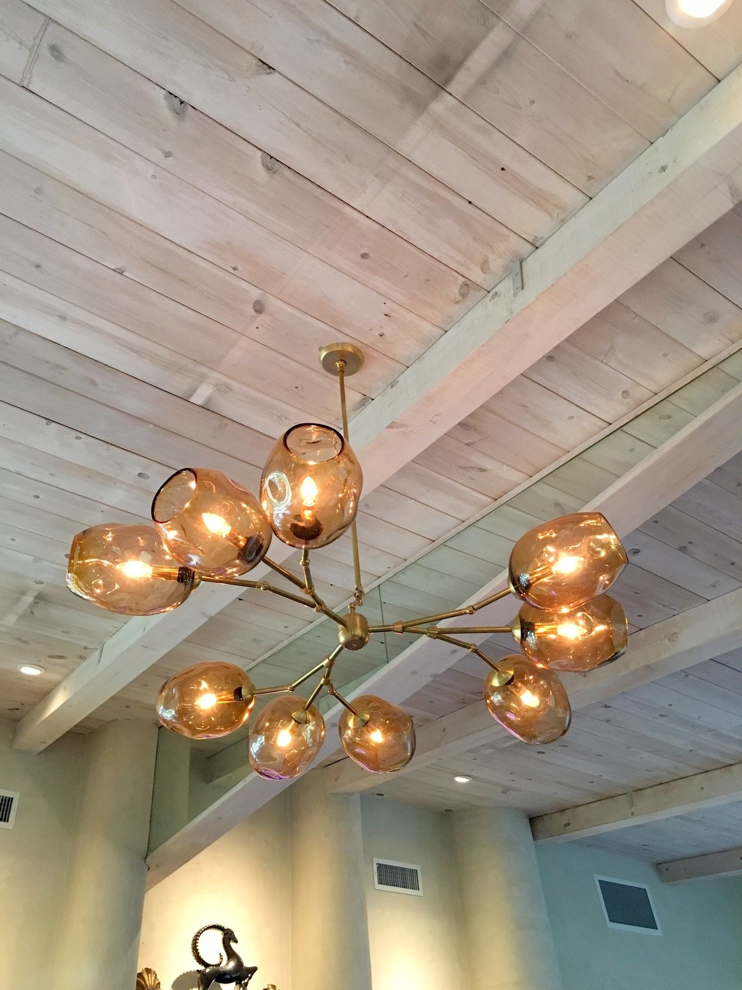 Custom Staccato Branch Globe Chandelier In Light Amberprovidence Intended For Most Current Chandelier Globe (View 8 of 15)