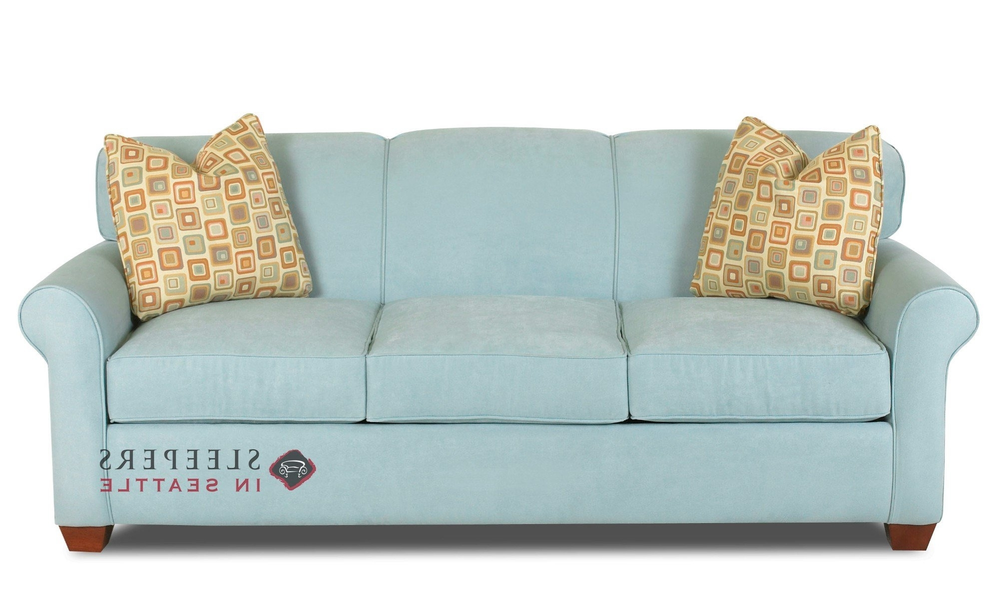 Customize And Personalize Calgary Queen Fabric Sofasavvy In Most Recent Queen Size Sofas (View 1 of 15)