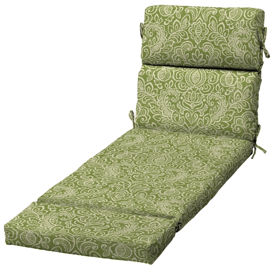Damask Chaise Lounge Chairs Intended For Most Recently Released Shop Garden Treasures Green Stencil Damask Standard Patio Chair (View 13 of 15)