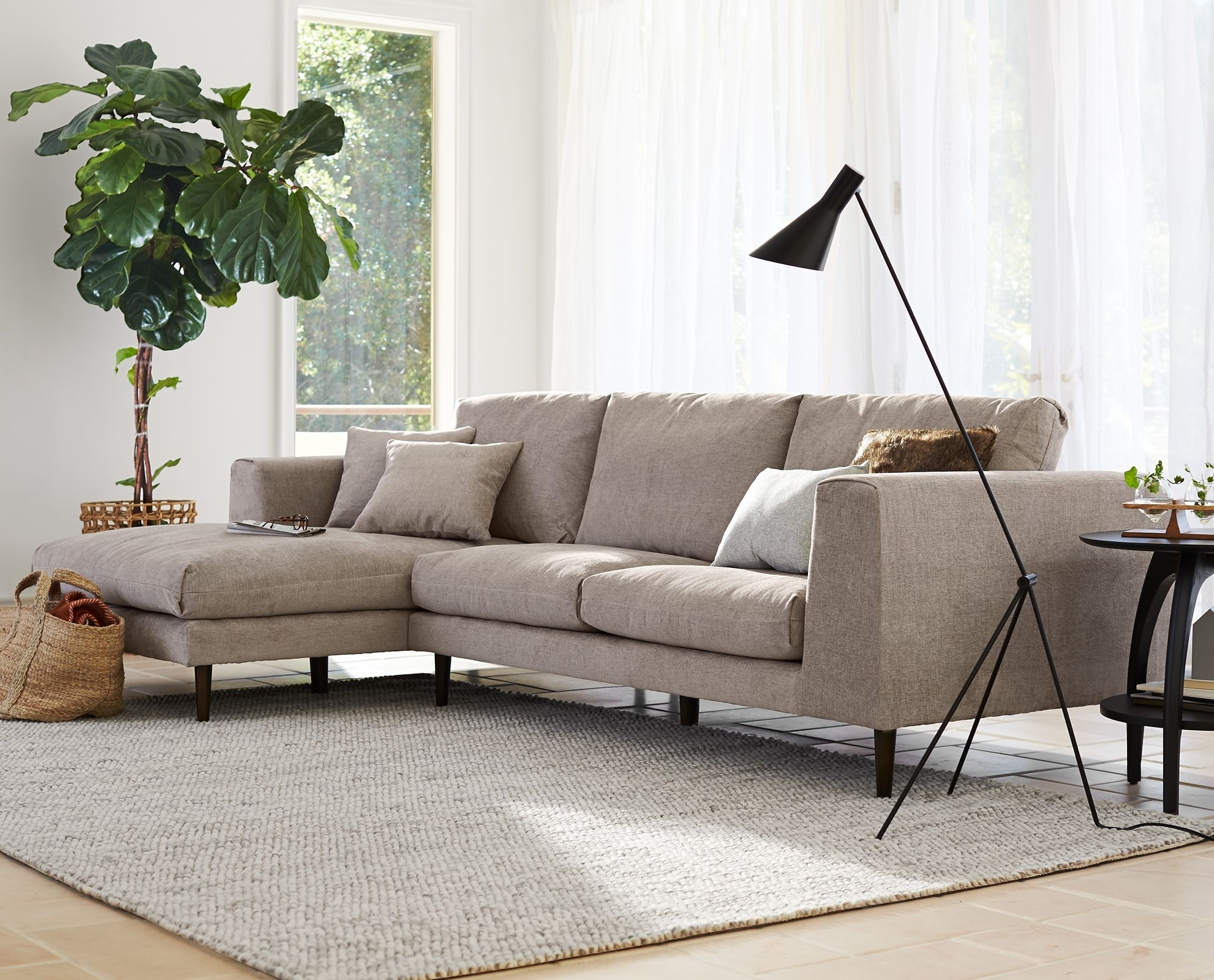 Dania Sectional Sofas inside Trendy Jorgen Chaise Sectional