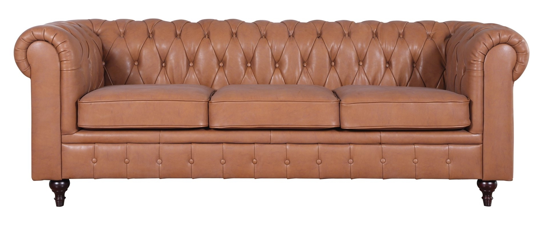 Darby Home Co Kacper Tufted Leather Chesterfield Sofa & Reviews For Well Known Tufted Leather Chesterfield Sofas (View 8 of 15)