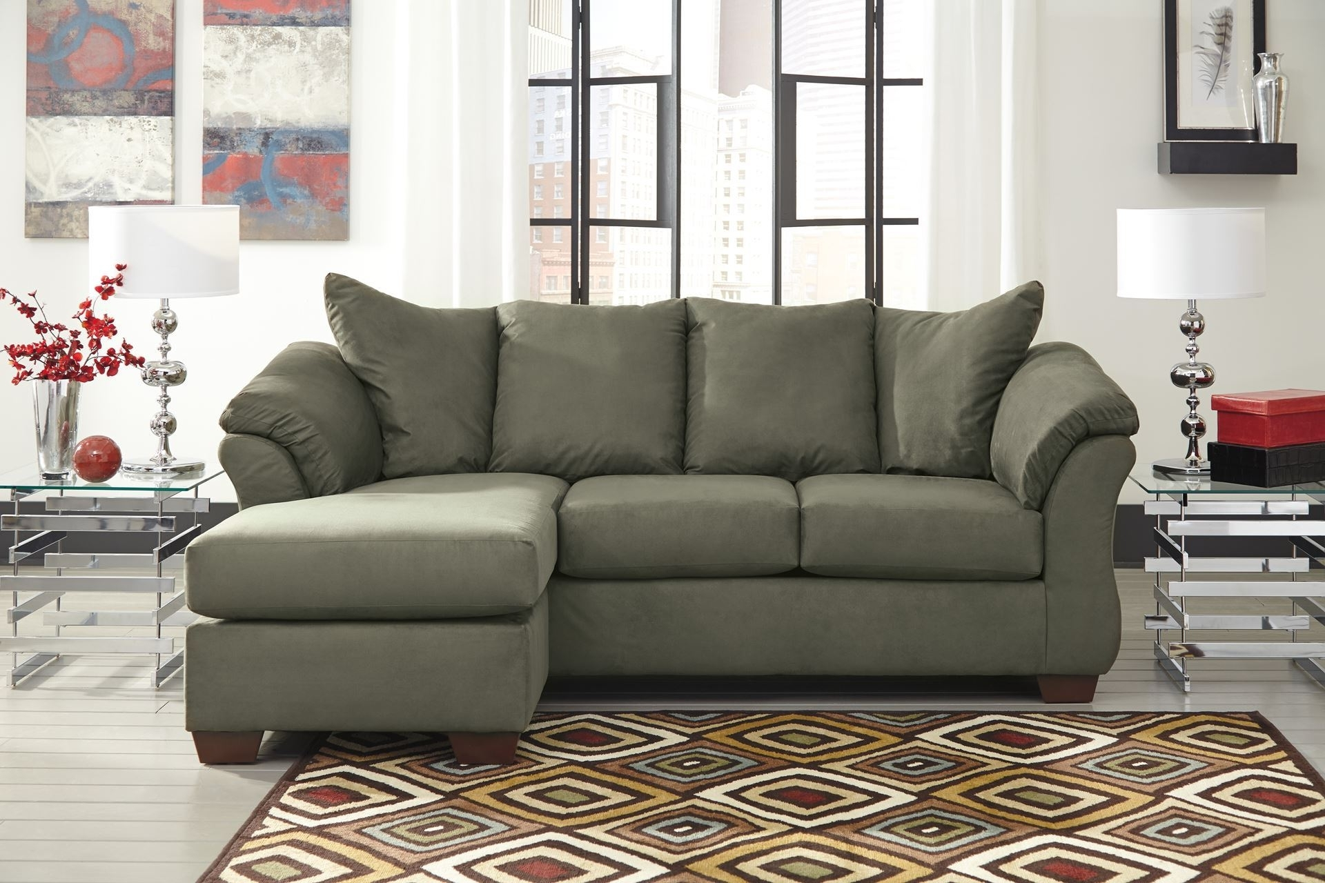 Darcy – Sage Sofa Chaise – Chaise (View 5 of 15)