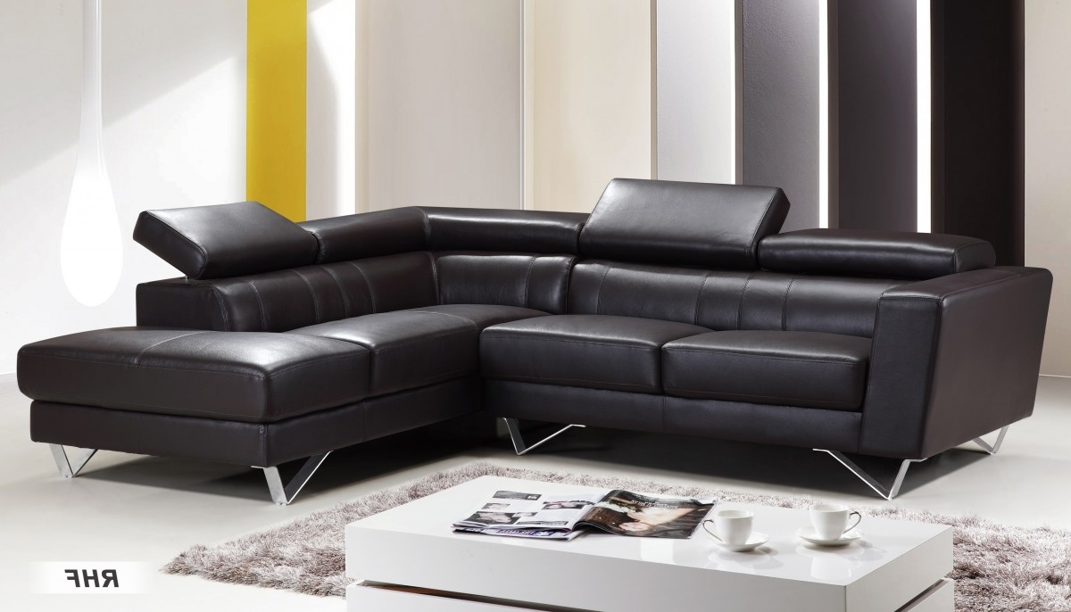 Dark Brown, At Home Usa Inside Leather Sectional Sofas (View 7 of 15)