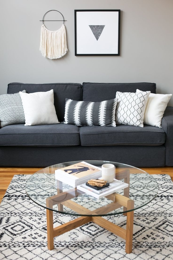 Dark Gray Couch Charcoal Grey Couch Decorating Grey Couch Living With Favorite Charcoal Grey Sofas (View 7 of 15)