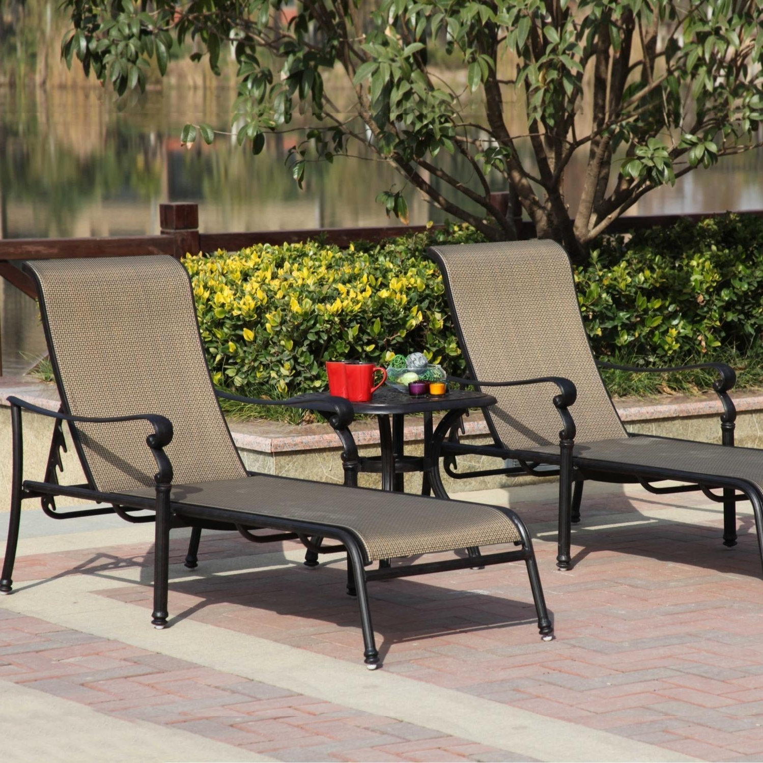 Darlee Monterey 3 Piece Sling Patio Chaise Lounge Set : Ultimate Patio Regarding Famous Patio Chaise Lounges (View 10 of 15)