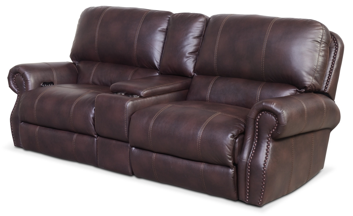 Dartmouth 3 Piece Power Reclining Sofa With Console – Burgundy Inside Current Sofas With Consoles (View 4 of 15)