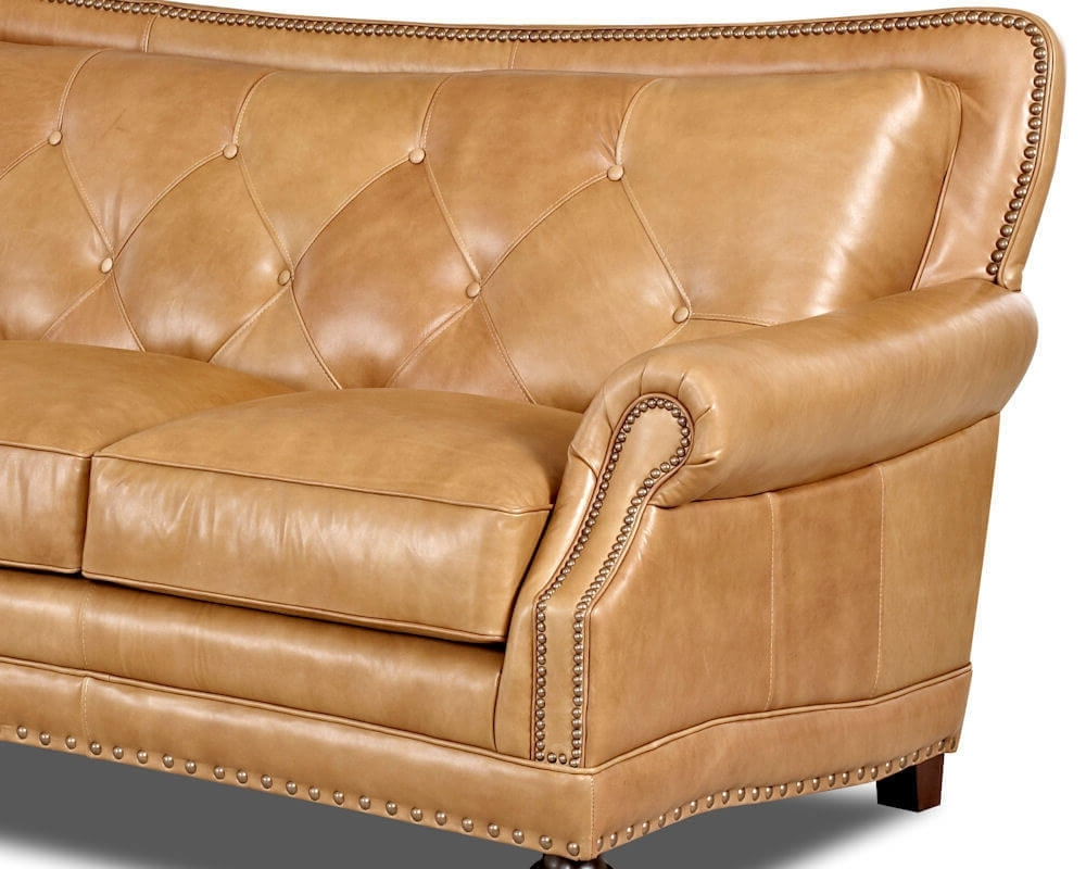 Davis Top Grain Leather 7010 In Aniline Leather Sofas (View 6 of 15)