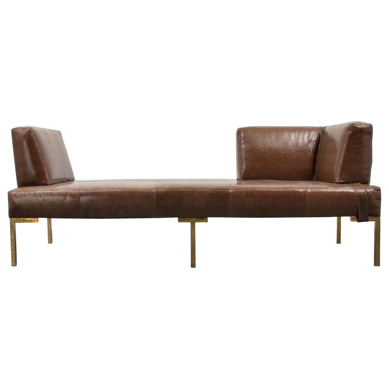 Daybed Chaises Within Well Liked Luigi Gentile Leather Daybeds Or Chaise Lounges, Two Available (View 3 of 15)
