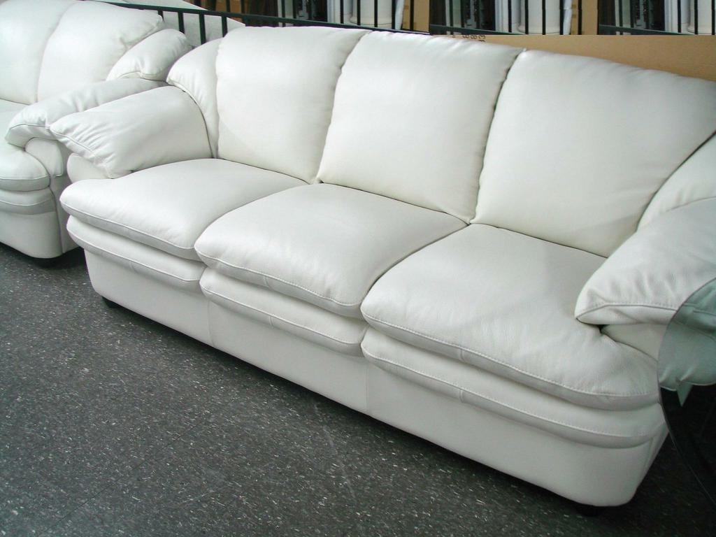 Decorating Leather Sofa Offers Small Tan Leather Sofa Off White With Regard To Popular Off White Leather Sofas (View 3 of 15)