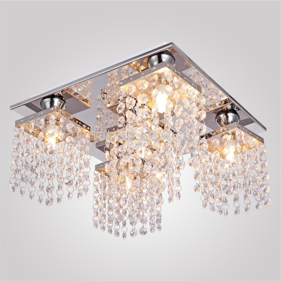 Decoration Ideas Luxury Flush Mount Ceiling Light Designed With Pertaining To Popular Chandelier For Low Ceiling (View 9 of 15)