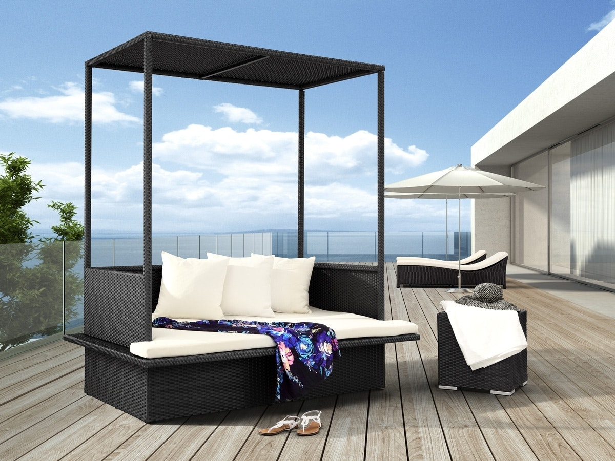 Decoration Outdoor Sofa With Canopy Rattan Garden Furniture Photo With Most Current Outdoor Sofas With Canopy (View 3 of 15)