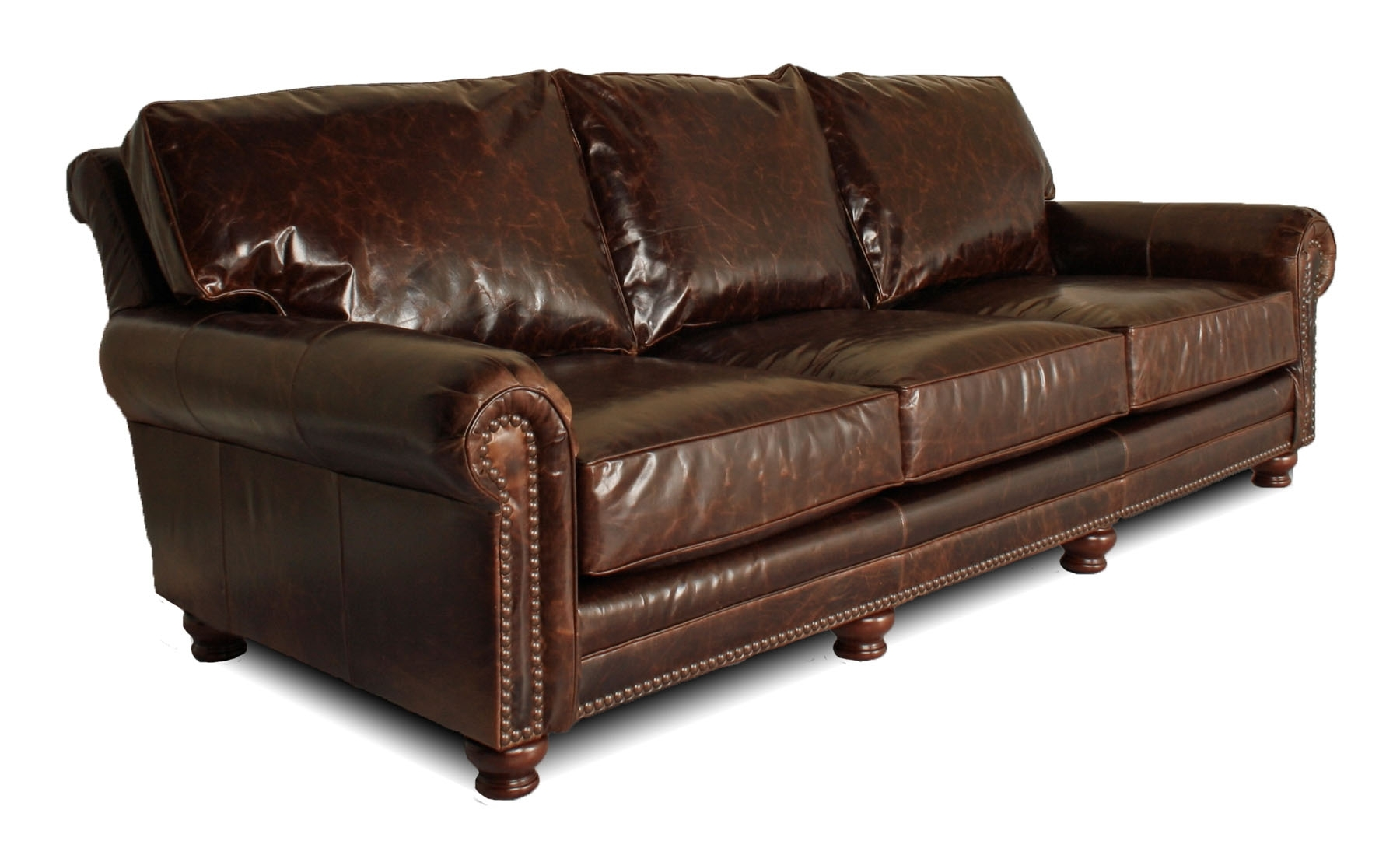 Deep Leather Furniture For The Big & Tall, Atlanta, Austin,chicago With Regard To Most Popular Kingston Sectional Sofas (View 3 of 15)