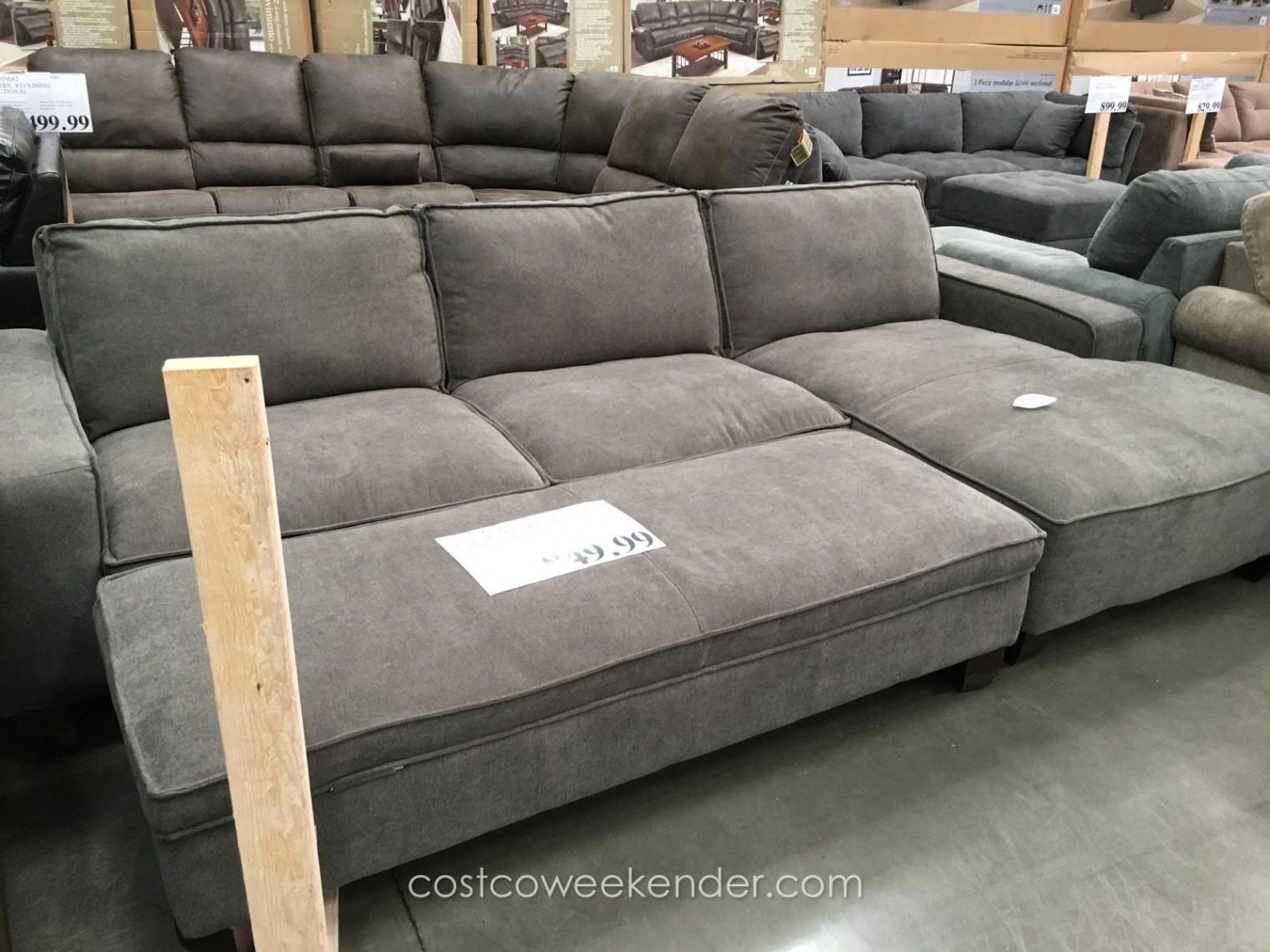 Deep Seat Sectionals With Chaise Inside Most Recently Released Sofa : Deep Sofas For Sale Light Gray Couches Extra Deep Seating (View 3 of 15)