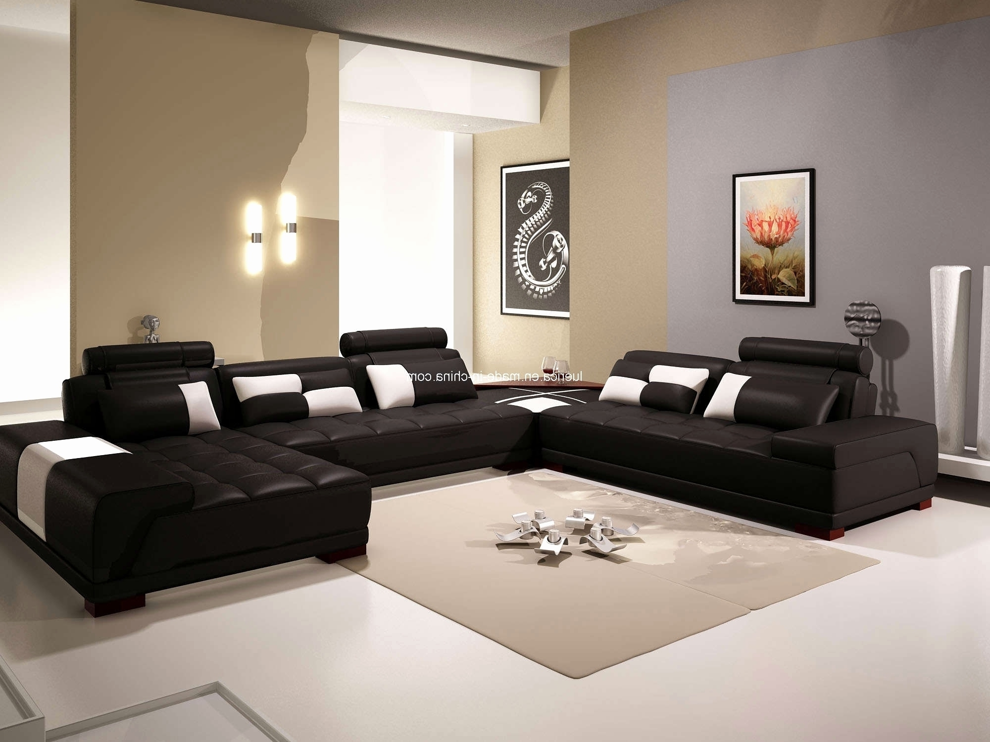 Deep U Shaped Sectionals Pertaining To Well Known Elegant Leather U Sectional 2018 – Couches And Sofas Ideas (View 4 of 15)