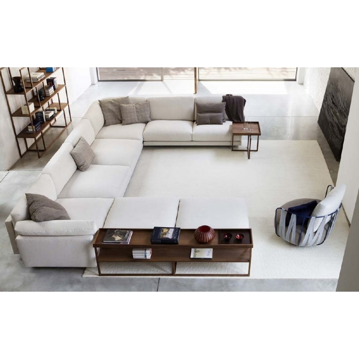 Deep U Shaped Sectionals Throughout Well Known Luxury Living Room Style Ideas With White U Shaped Extra Deep Sofa (View 6 of 15)