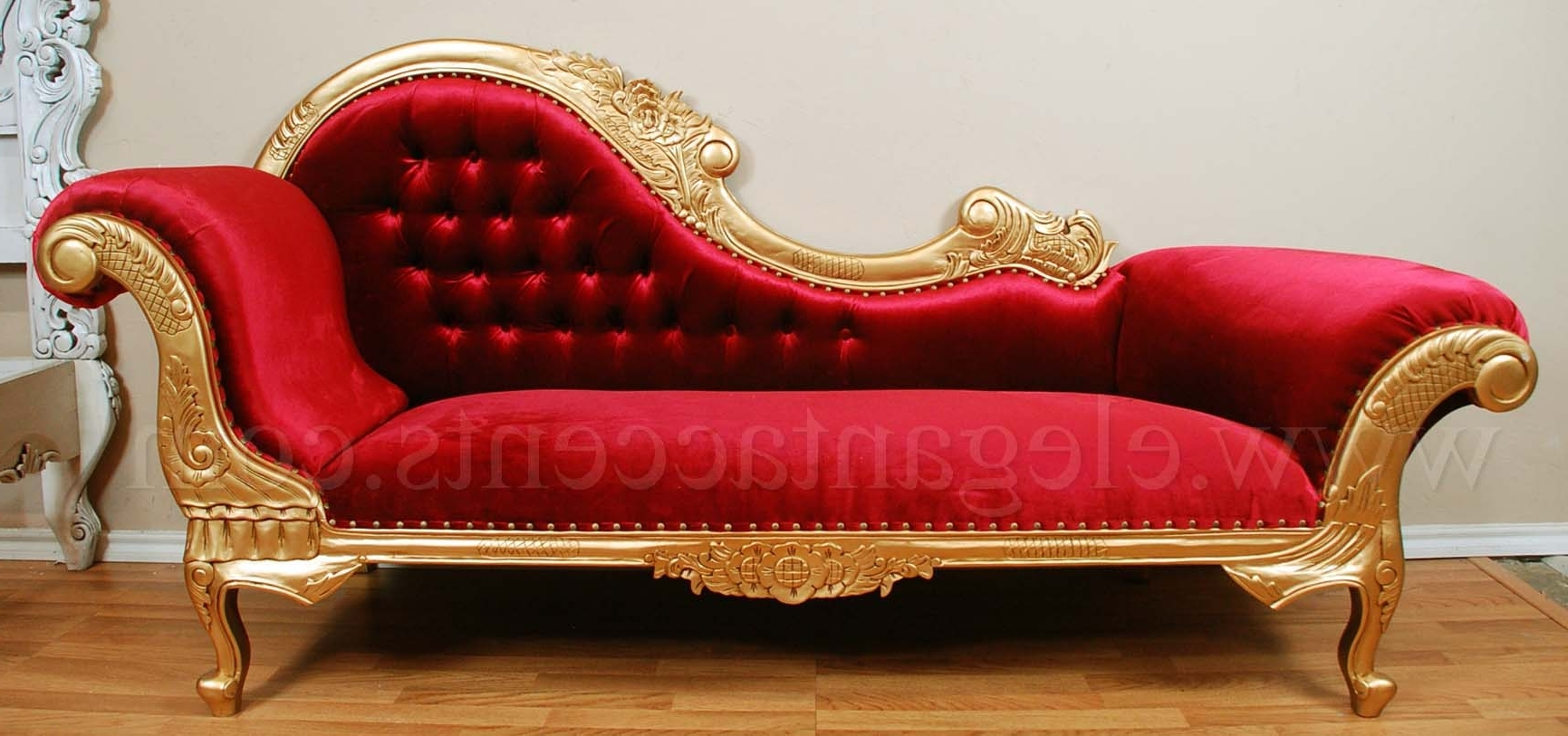 Depositphotos Stock Photo Red Chaise Lounge Over White – Surripui Regarding Widely Used Red Chaises (View 8 of 15)