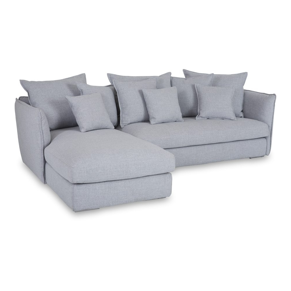 Designer Lisa Grey Chaise Lounge – Sectional Sofa Inside Fashionable Sofa Chaise Lounges (View 7 of 15)