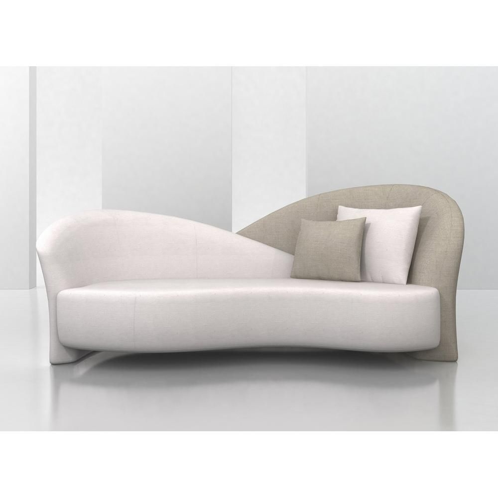 Designer Overlapping Backed Sofa Made In The Usa (View 2 of 15)