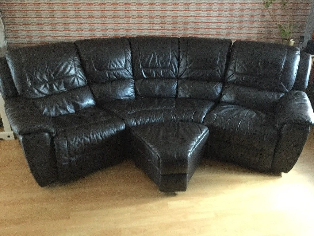 Dfs Curved Leather Recliner Sofa (View 9 of 15)