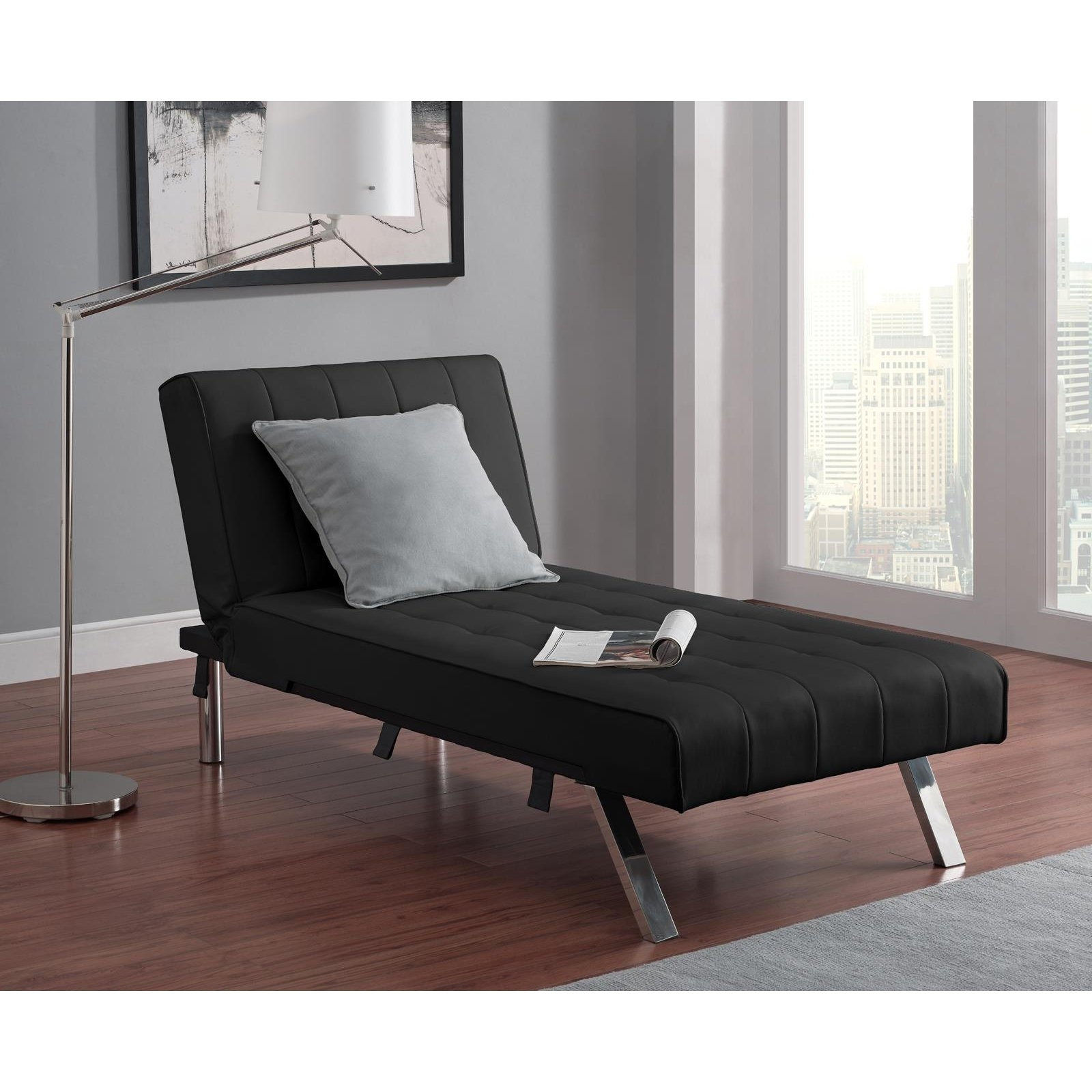 Dhp Emily Faux Leather Chaise Lounge (View 9 of 15)