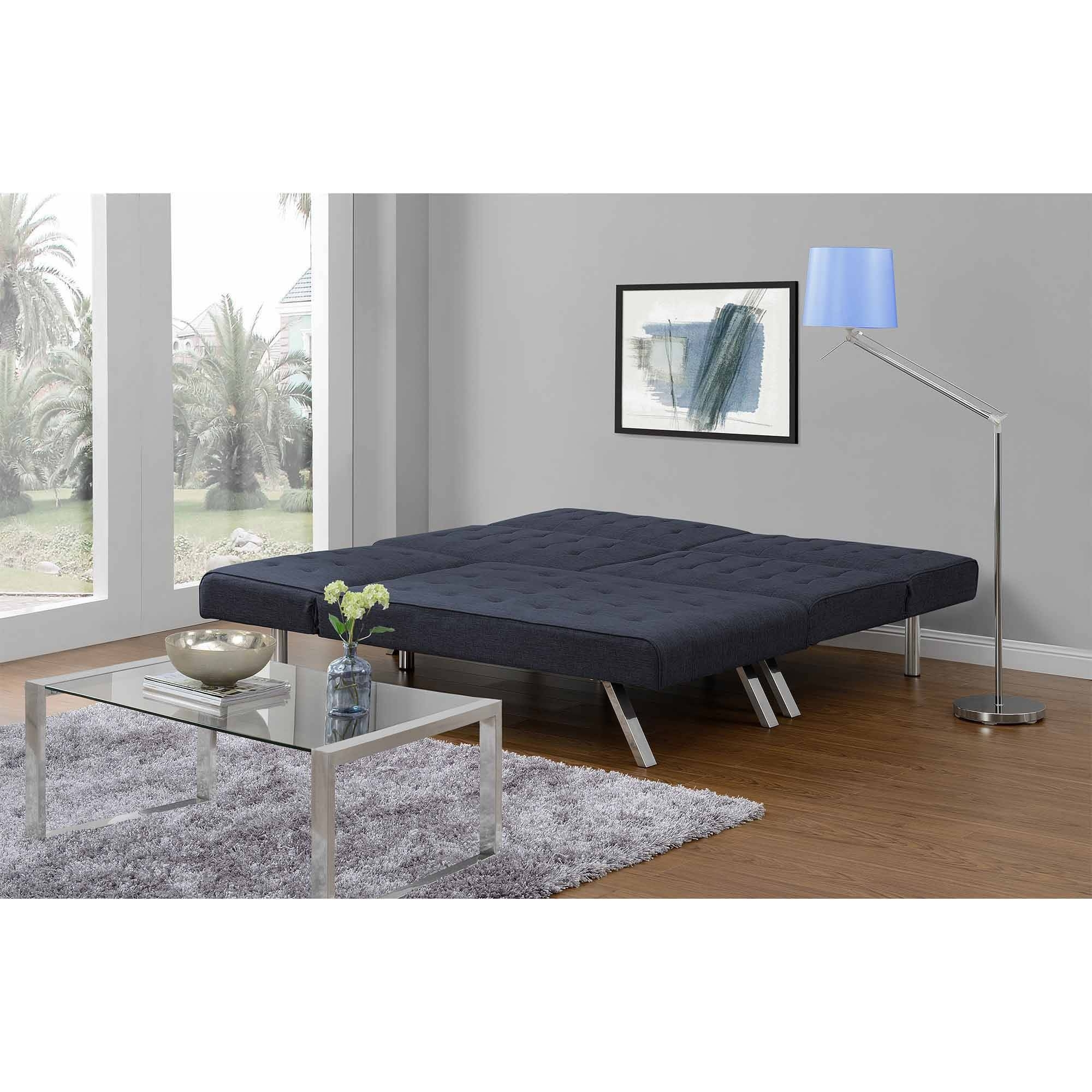 Dhp Emily Futon Chaise Lounger, Multiple Colors – Walmart With Current Futons With Chaise (View 3 of 15)