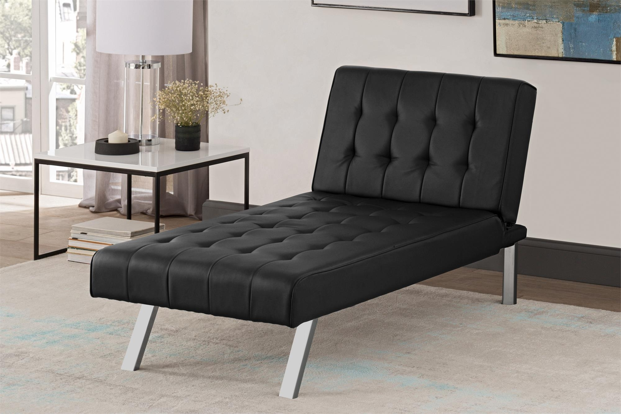 Dhp Emily Futon Chaise Lounger, Multiple Colors – Walmart With Well Known Emily Chaise Lounges (View 4 of 15)