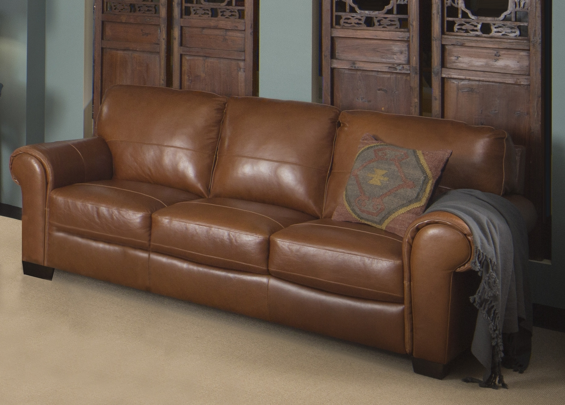 Dining & Living Pertaining To Leather Lounge Sofas (View 4 of 15)