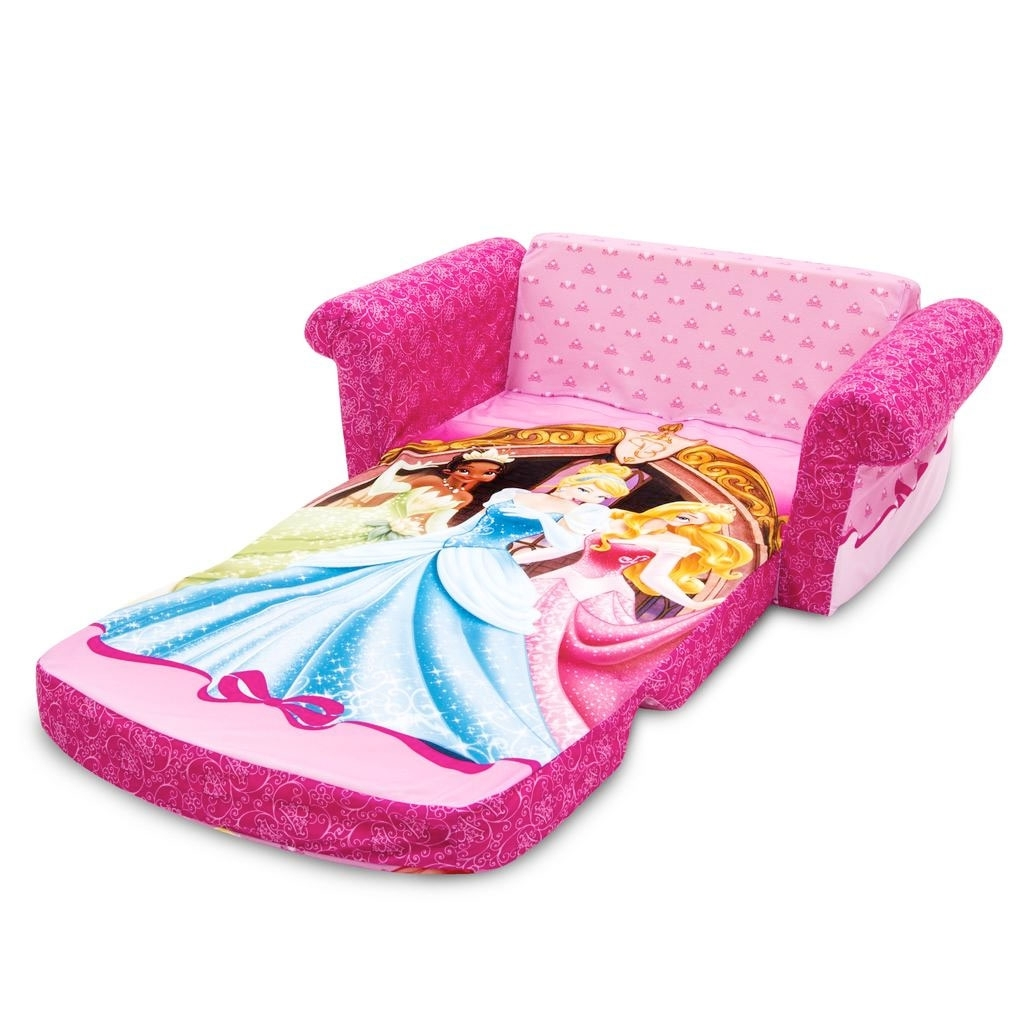 Disney Sofa Chairs For Recent Spin Master – Marshmallow Furniture Flip Open Sofa Disney Princess (View 15 of 15)