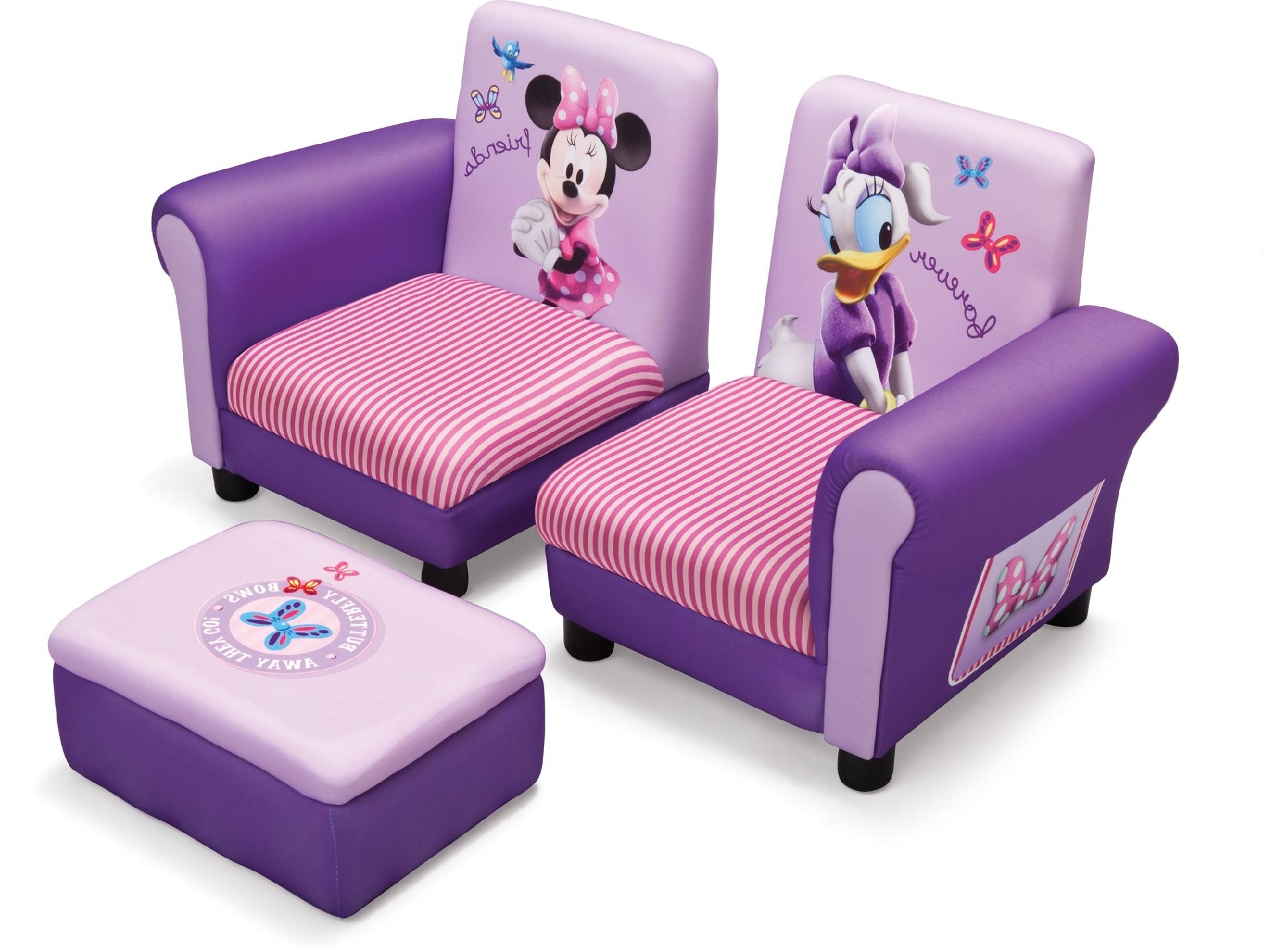 Disney Sofa Chairs With Famous Minnie Mouse Kids Furniture (View 9 of 15)