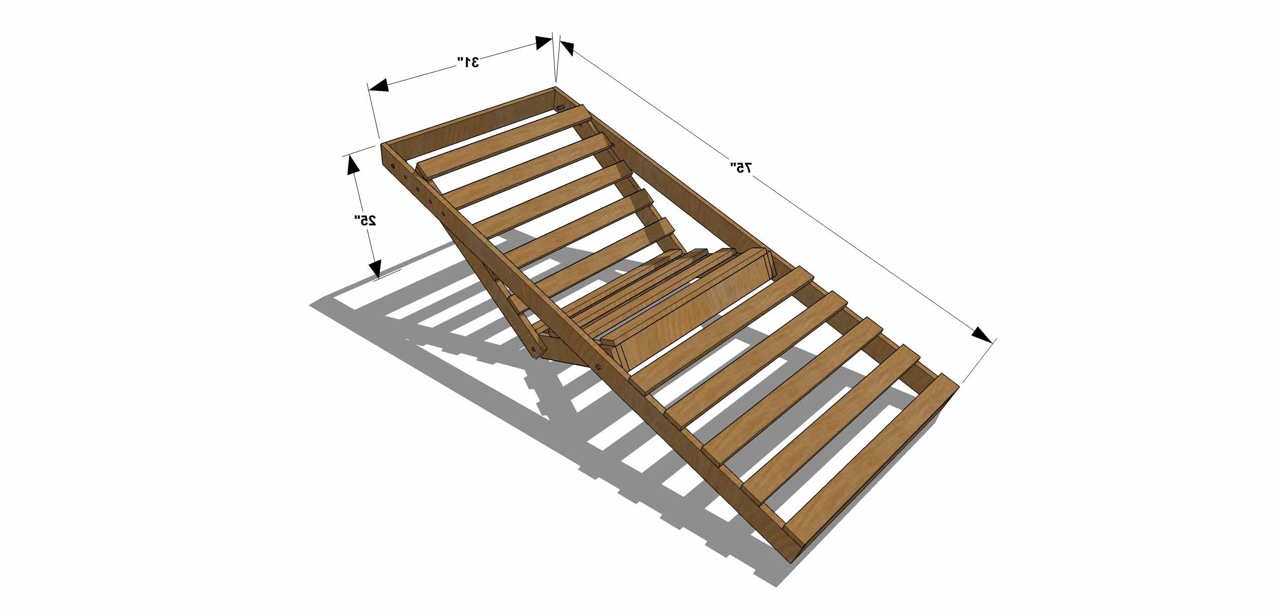 Diy Furniture Plans How To Build An Indoor Outdoor Single Of With Throughout Widely Used Diy Chaise Lounge Chairs (View 7 of 15)