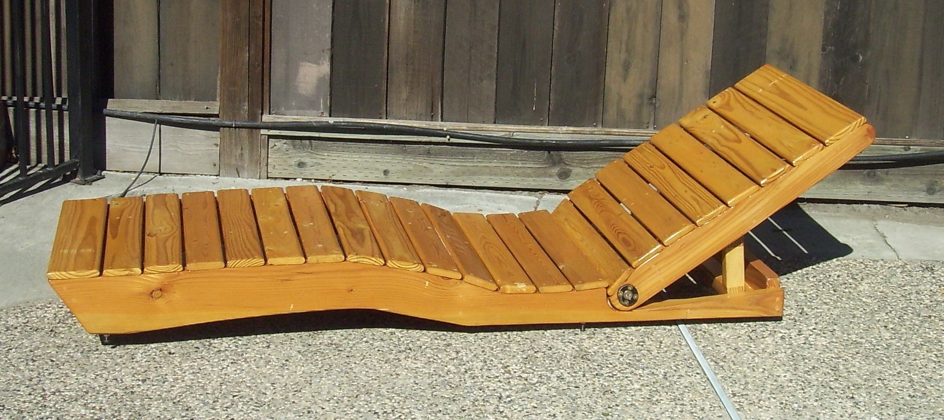 Diy Outdoor Chaise Lounge Chairs With Most Recent Chaise Lounge Made From Pallet Wood (View 6 of 15)