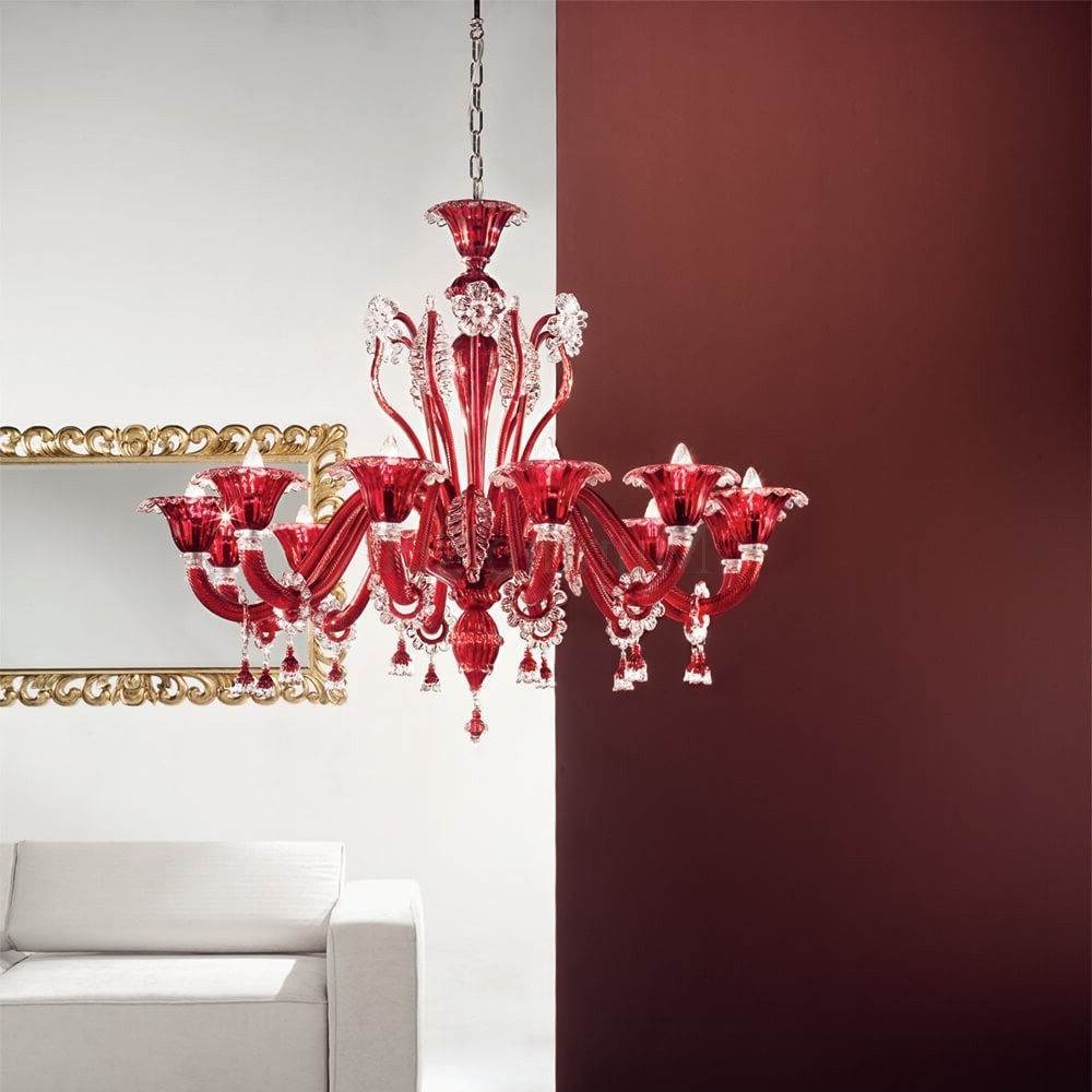 Doge 12 Lights Chandelier In Murano Glass (View 14 of 15)