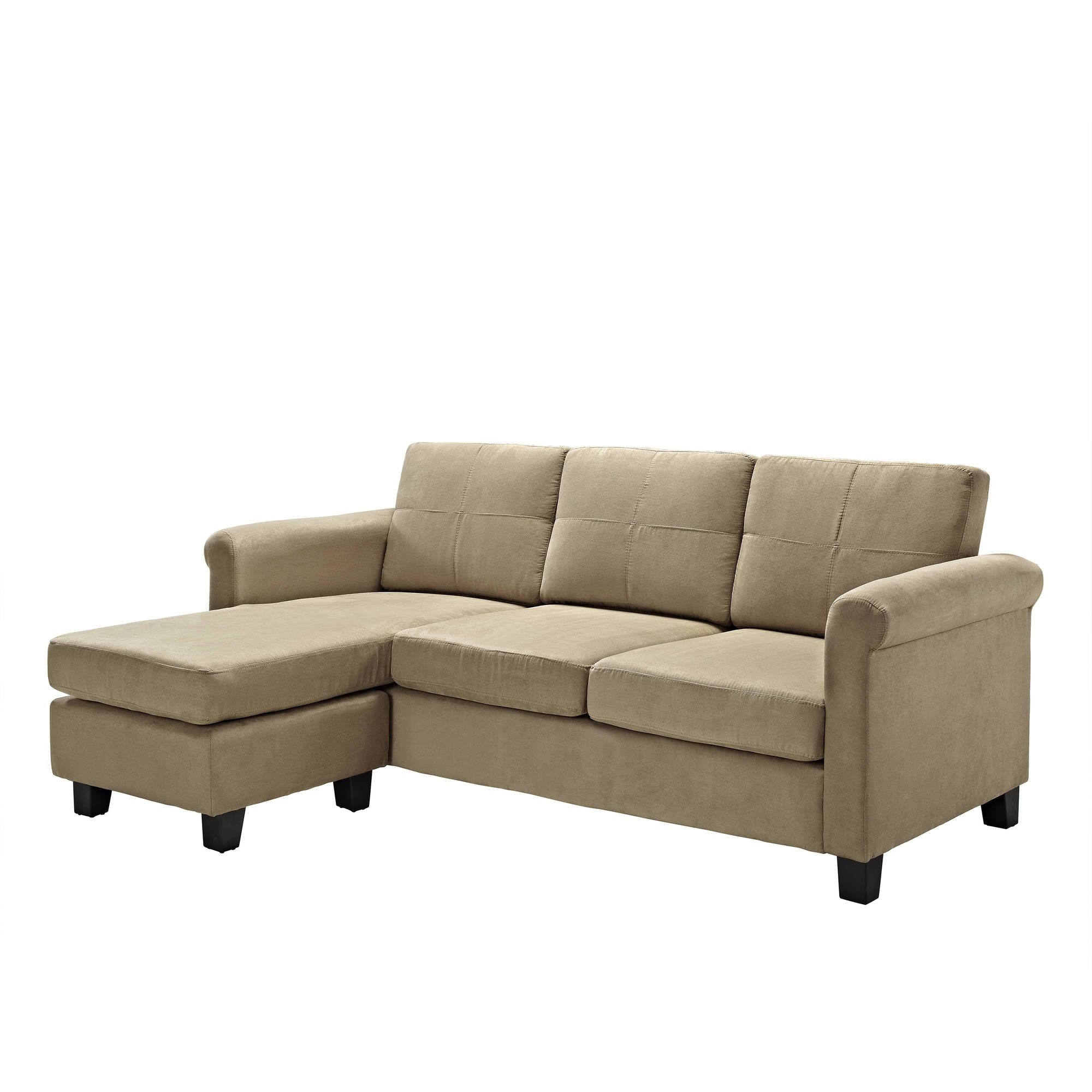Dorel Living Small Spaces Configurable Sectional Sofa, Multiple With Newest Small Sofa Chaises (View 10 of 15)