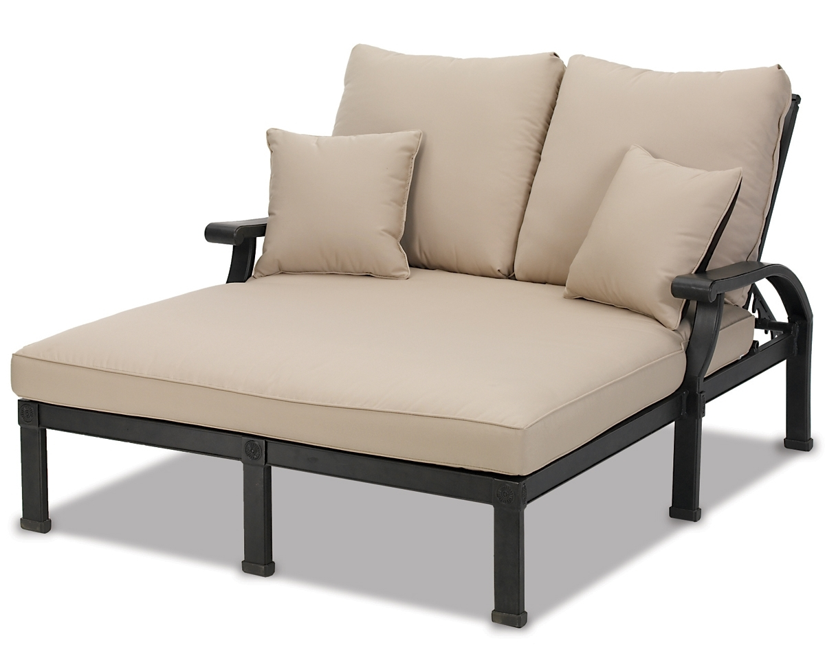 Double Chaise Lounges For Outdoor Intended For Most Recent Lounge Chair : Reclining Chaise Lounge Outdoor Patio Lounger (View 12 of 15)