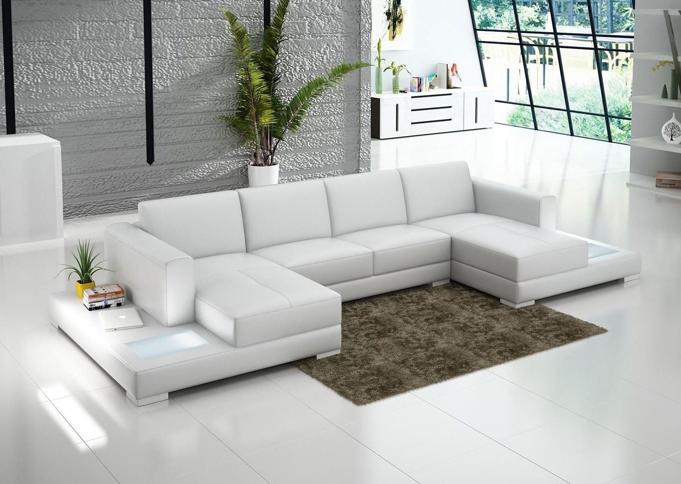 Double Chaise Sectional For Complete And Perfect Welcoming Living Inside Popular Dual Chaise Sectionals (View 4 of 15)