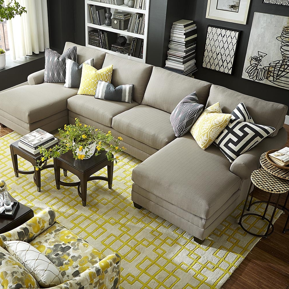 Double Chaise Sectional Sofas regarding Most Recently Released Cu.2 Upholstered Double Chairse Sectional