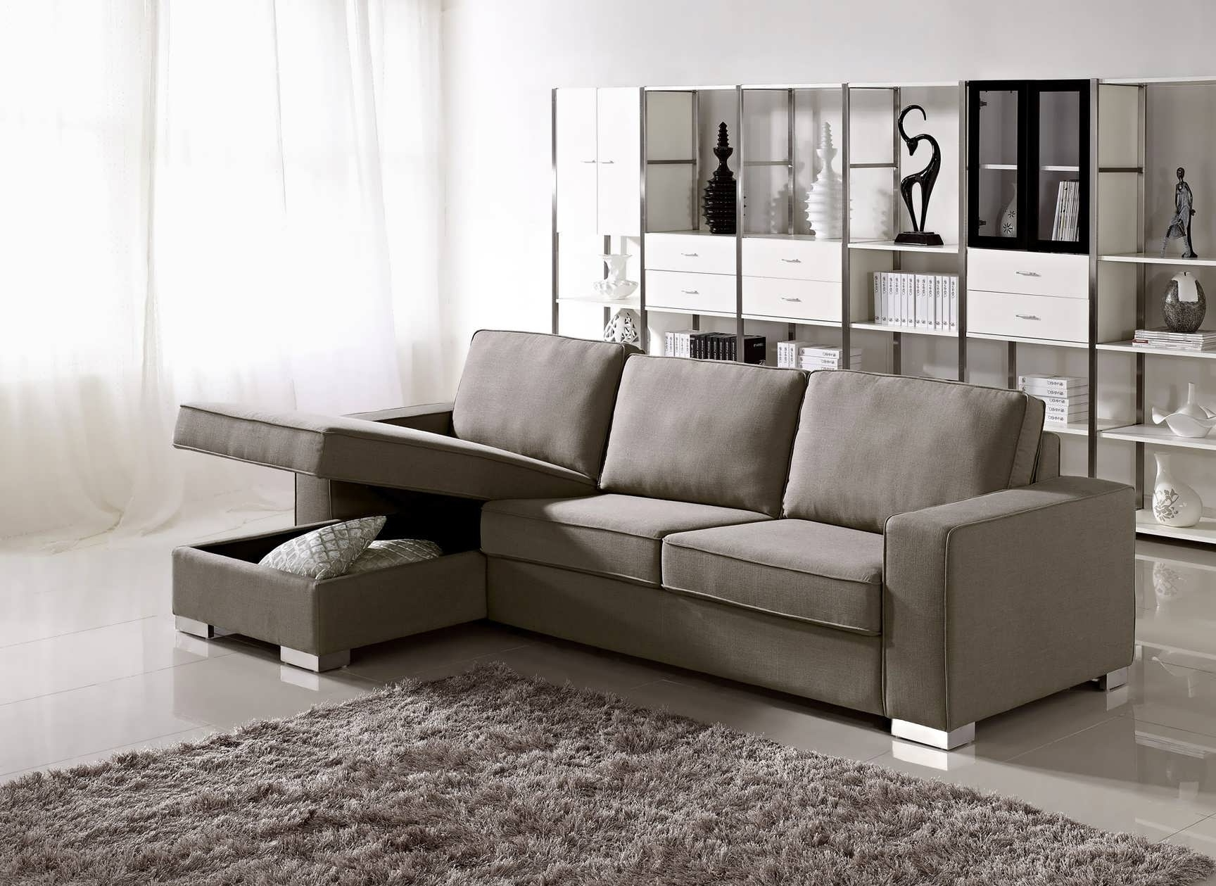 Double Chaise Sectionals For Famous Sofa : Chaise Sofa Double Chaise Sectional Small L Shaped Couch (View 3 of 15)