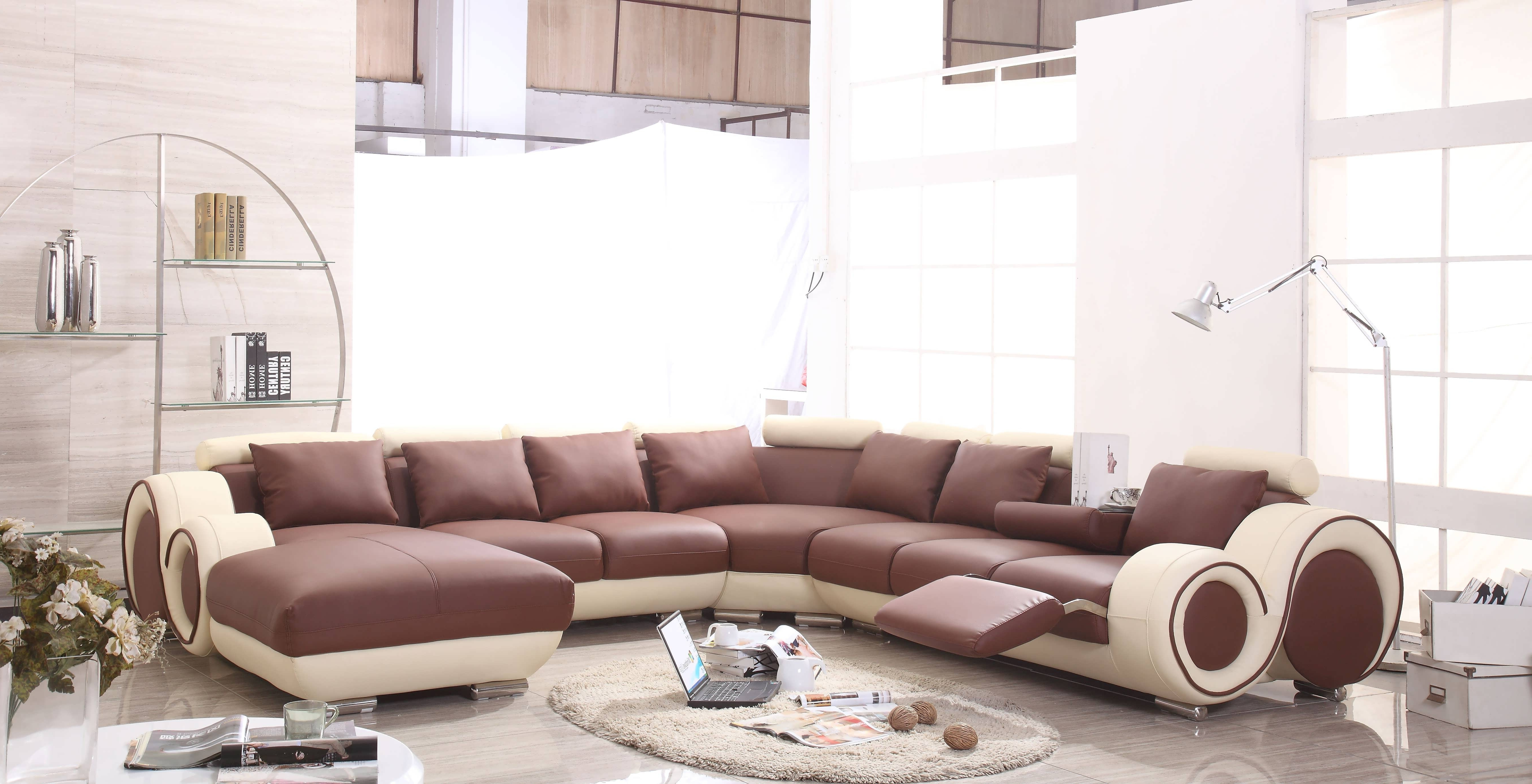 Double Chaise Sectionals Throughout Well Known Sofa : Grey Sectional Sofa Double Chaise Sectional Couches (View 9 of 15)