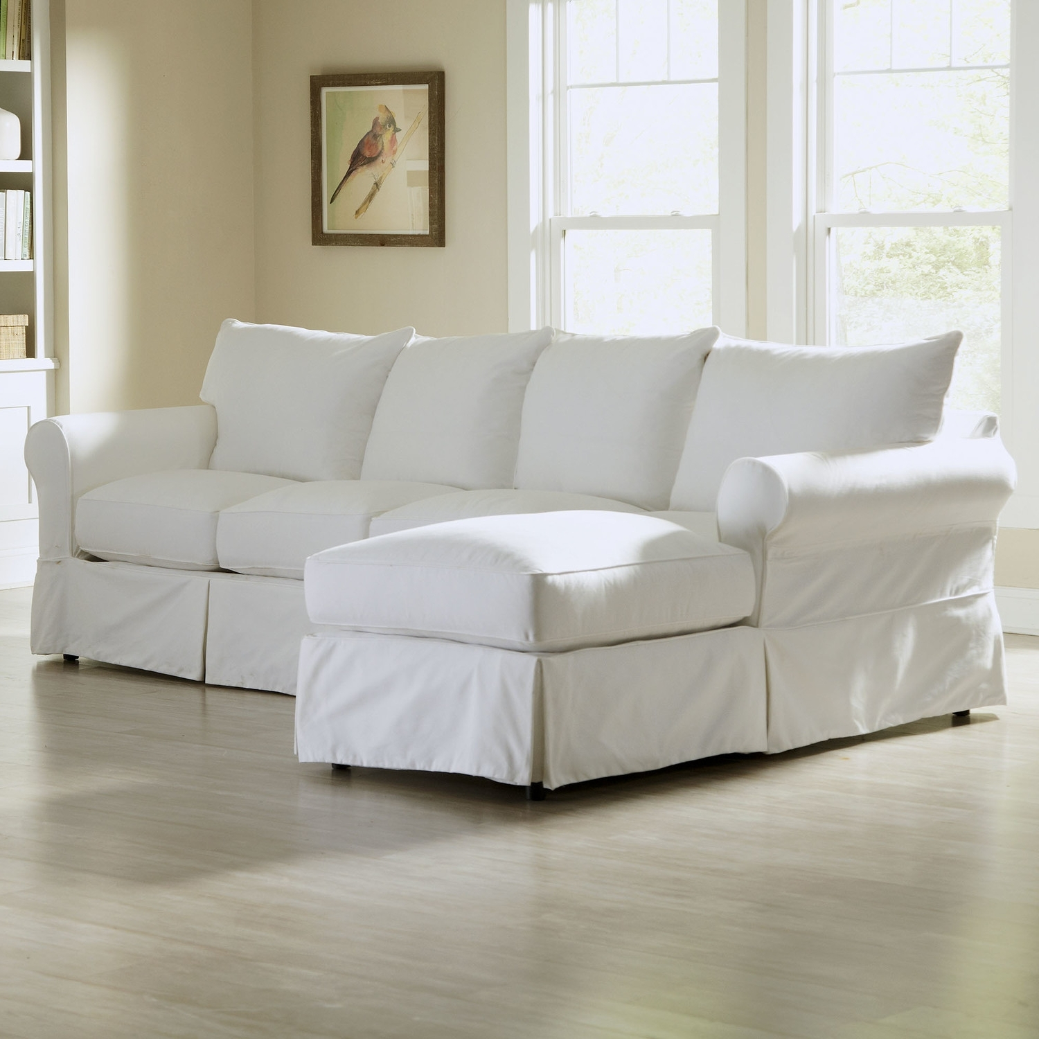 Down Filled Leather Sofa (View 1 of 15)