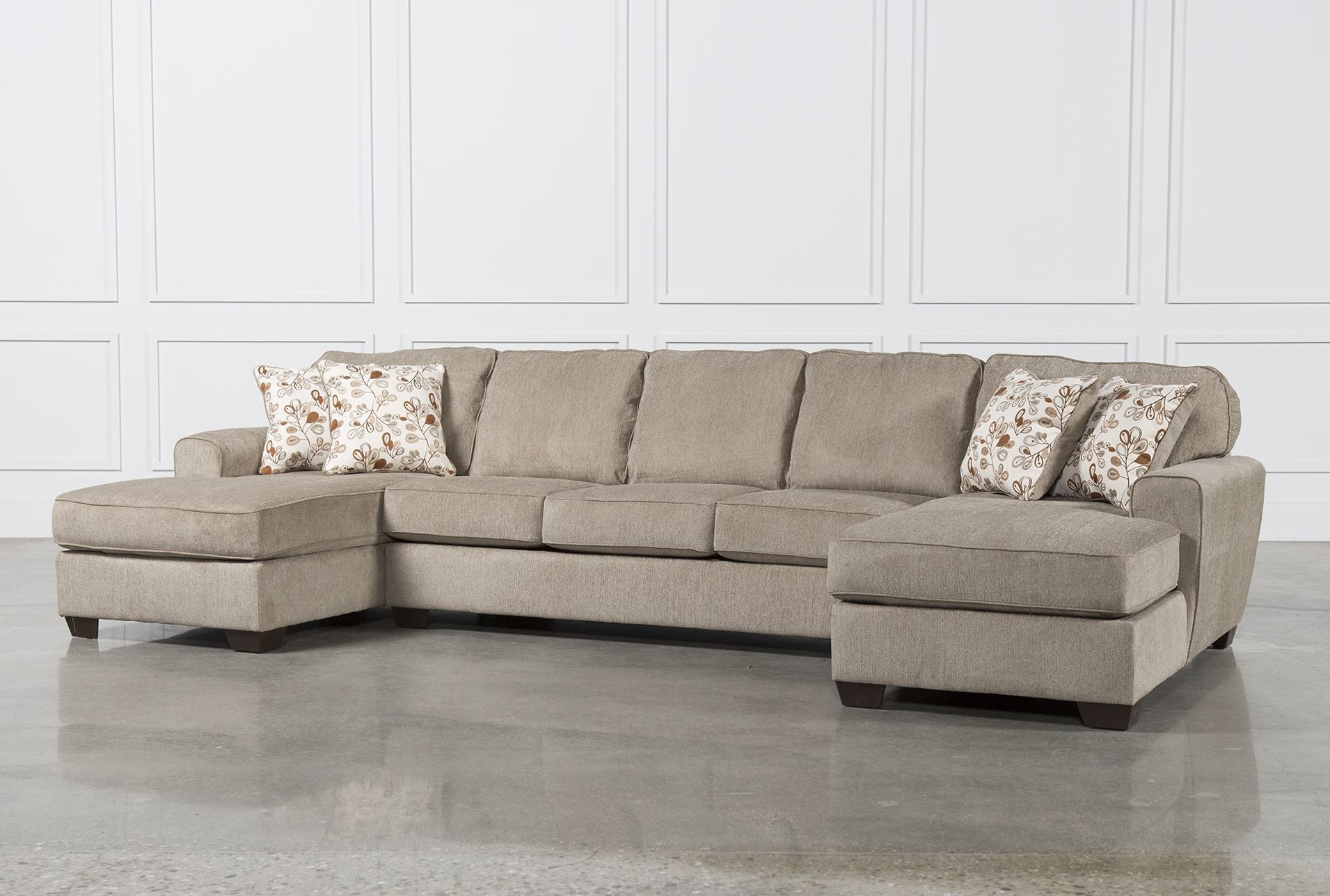 Dual Chaise Sectionals With Regard To Fashionable Popular Sectional Sofa With 2 Chaises 26 For Sectional Sofas (View 10 of 15)