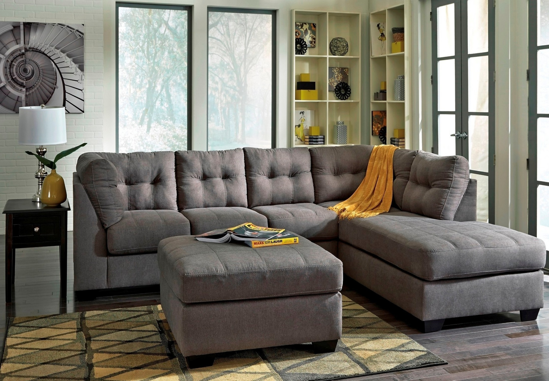 Dufresne Sectional Sofas With Well Liked Maier Charcoal Laf Sectional From Ashley (45200 16 67) (View 7 of 15)