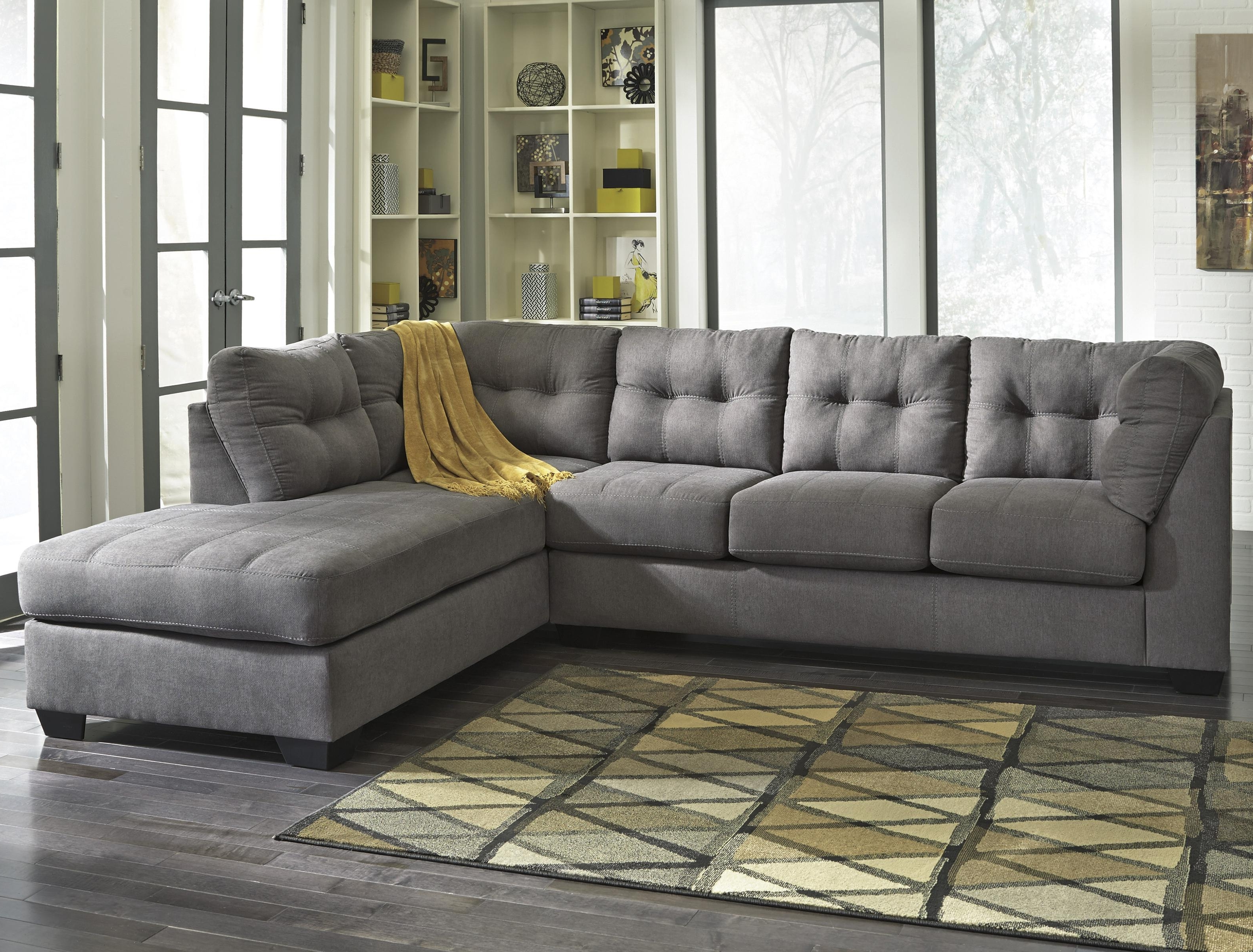 East Bay Sectional Sofas Pertaining To Popular Benchcraft Maier – Charcoal 2 Piece Sectional With Right Chaise (View 3 of 15)