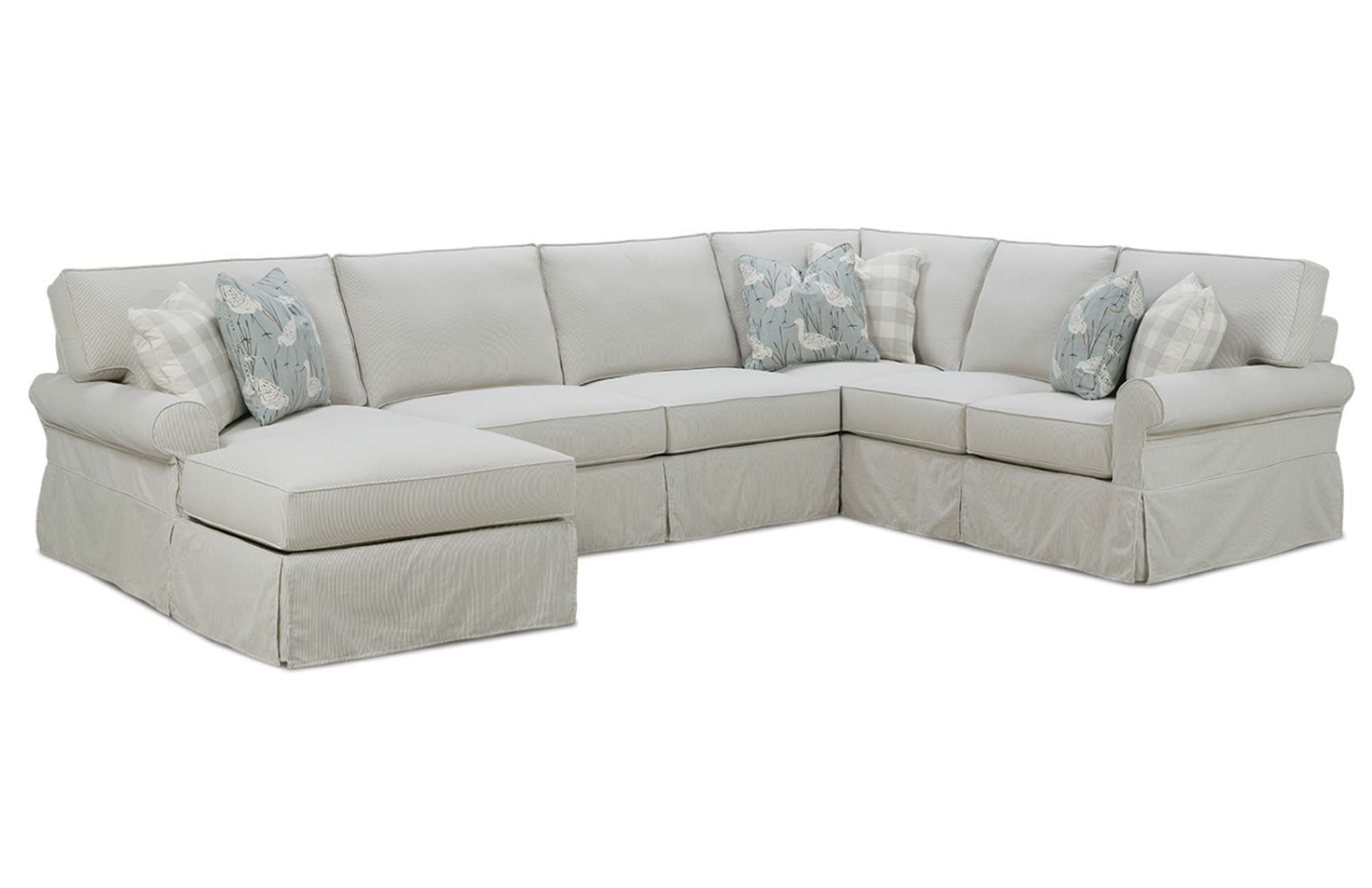 Easton Slipcover Sectionalrowe Furniture Throughout Favorite Slipcovered Sofas With Chaise (View 5 of 15)