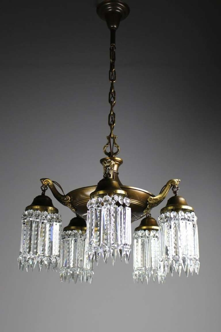 Edwardian Chandelier Inside Newest Elegant Edwardian Crystal Chandelier For Sale At 1Stdibs (View 6 of 15)